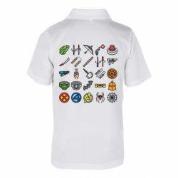 Дитяча футболка поло Superhero Icon Set