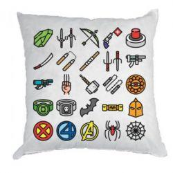 Подушка Superhero Icon Set
