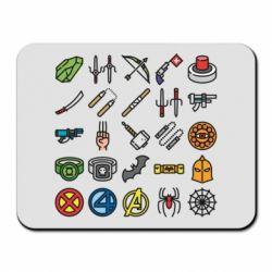 Килимок для миші Superhero Icon Set