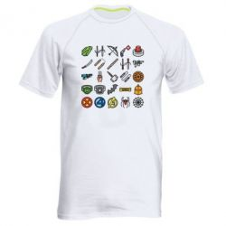 Чоловіча спортивна футболка Superhero Icon Set