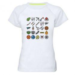 Жіноча спортивна футболка Superhero Icon Set