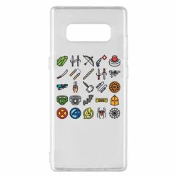 Чохол для Samsung Note 8 Superhero Icon Set