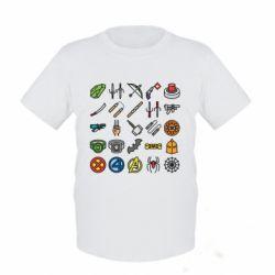 Дитяча футболка Superhero Icon Set