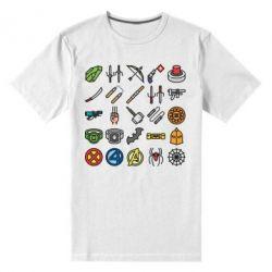 Чоловіча стрейчева футболка Superhero Icon Set