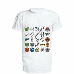 Подовжена футболка Superhero Icon Set