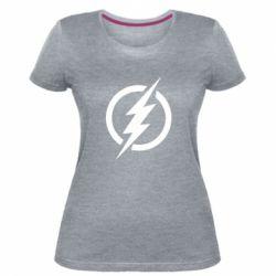 Жіноча стрейчева футболка Superhero logo