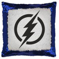 Подушка-хамелеон Superhero logo
