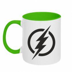 Кружка двоколірна 320ml Superhero logo