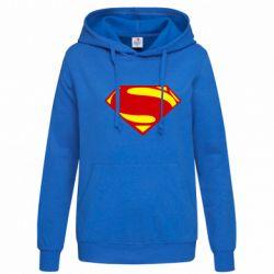 Женская толстовка Superman Человек из стали - FatLine