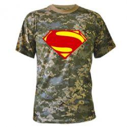 Камуфляжная футболка Superman Человек из стали - FatLine