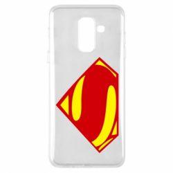 Купить Чехол для Samsung A6+ 2018 Superman Человек из стали, FatLine