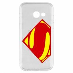 Купить Чехол для Samsung A3 2017 Superman Человек из стали, FatLine