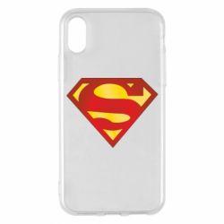 Чехол для iPhone X/Xs Superman Classic