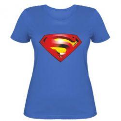 Женская футболка Superman Emblem - FatLine