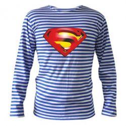 Тельняшка с длинным рукавом Superman Emblem - FatLine