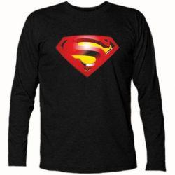 Футболка с длинным рукавом Superman Emblem - FatLine