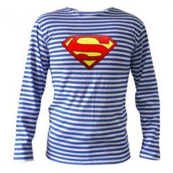 Тельняшка с длинным рукавом Superman Logo - FatLine
