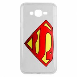 Чехол для Samsung J7 2015 Superman Logo