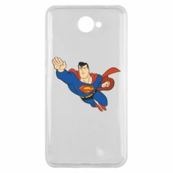 Чехол для Huawei Y7 2017 Superman mult - FatLine