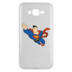 Чехол для Samsung J7 2015 Superman mult - FatLine