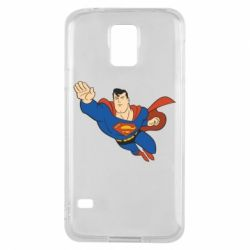 Чехол для Samsung S5 Superman mult - FatLine