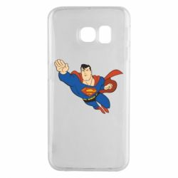 Чехол для Samsung S6 EDGE Superman mult