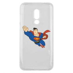 Чехол для Meizu 16 Superman mult - FatLine