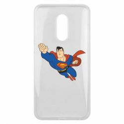 Чехол для Meizu 16 plus Superman mult - FatLine