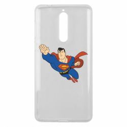 Чехол для Nokia 8 Superman mult - FatLine