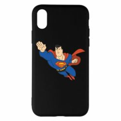 Чехол для iPhone X Superman mult - FatLine