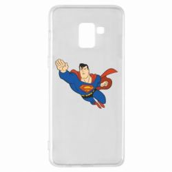 Чехол для Samsung A8+ 2018 Superman mult - FatLine