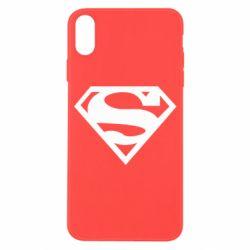 Чехол для iPhone X/Xs Superman одноцветный
