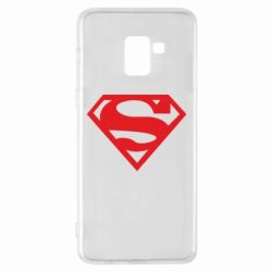 Чехол для Samsung A8+ 2018 Superman одноцветный