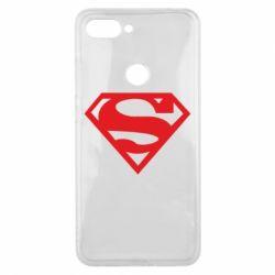 Чехол для Xiaomi Mi8 Lite Superman одноцветный