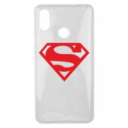 Чехол для Xiaomi Mi Max 3 Superman одноцветный