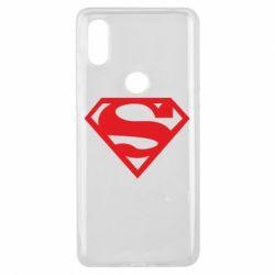 Чехол для Xiaomi Mi Mix 3 Superman одноцветный