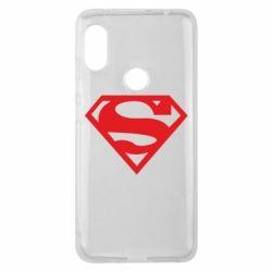 Чехол для Xiaomi Redmi Note 6 Pro Superman одноцветный