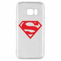 Чехол для Samsung S7 Superman одноцветный