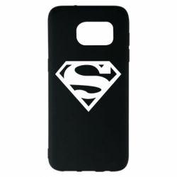 Чехол для Samsung S7 EDGE Superman одноцветный