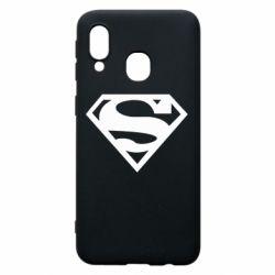 Чехол для Samsung A40 Superman одноцветный