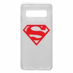 Чехол для Samsung S10 Superman одноцветный