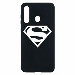Чехол для Samsung M40 Superman одноцветный
