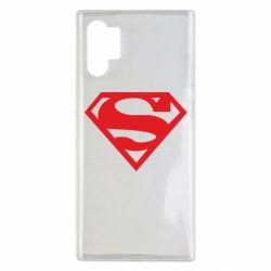 Чехол для Samsung Note 10 Plus Superman одноцветный