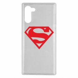 Чехол для Samsung Note 10 Superman одноцветный