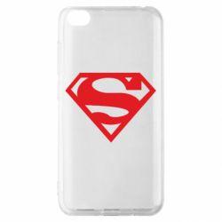 Чехол для Xiaomi Redmi Go Superman одноцветный