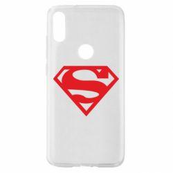 Чехол для Xiaomi Mi Play Superman одноцветный