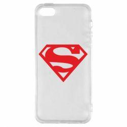 Чехол для iPhone5/5S/SE Superman одноцветный