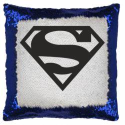 Подушка-хамелеон Superman одноцветный