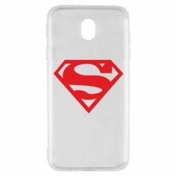 Чехол для Samsung J7 2017 Superman одноцветный