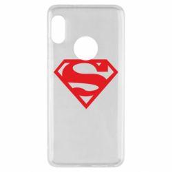 Чехол для Xiaomi Redmi Note 5 Superman одноцветный